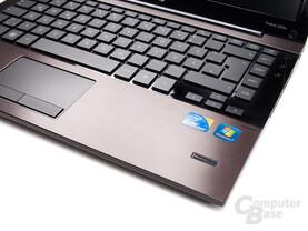 HP ProBook 5320m: Tastatur und Touchpad