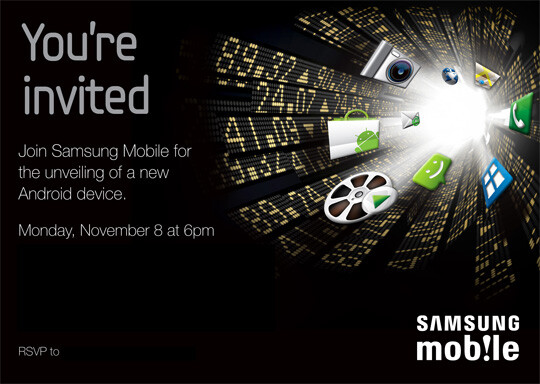 Samsung Mobile, Präsentation am 8. November 2010