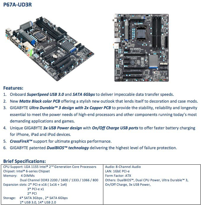 Gigabyte P67A-UD3R