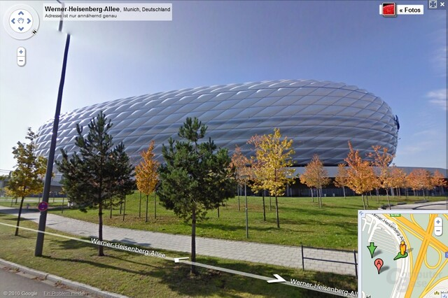 Allianz-Arena in München (Google Street View)