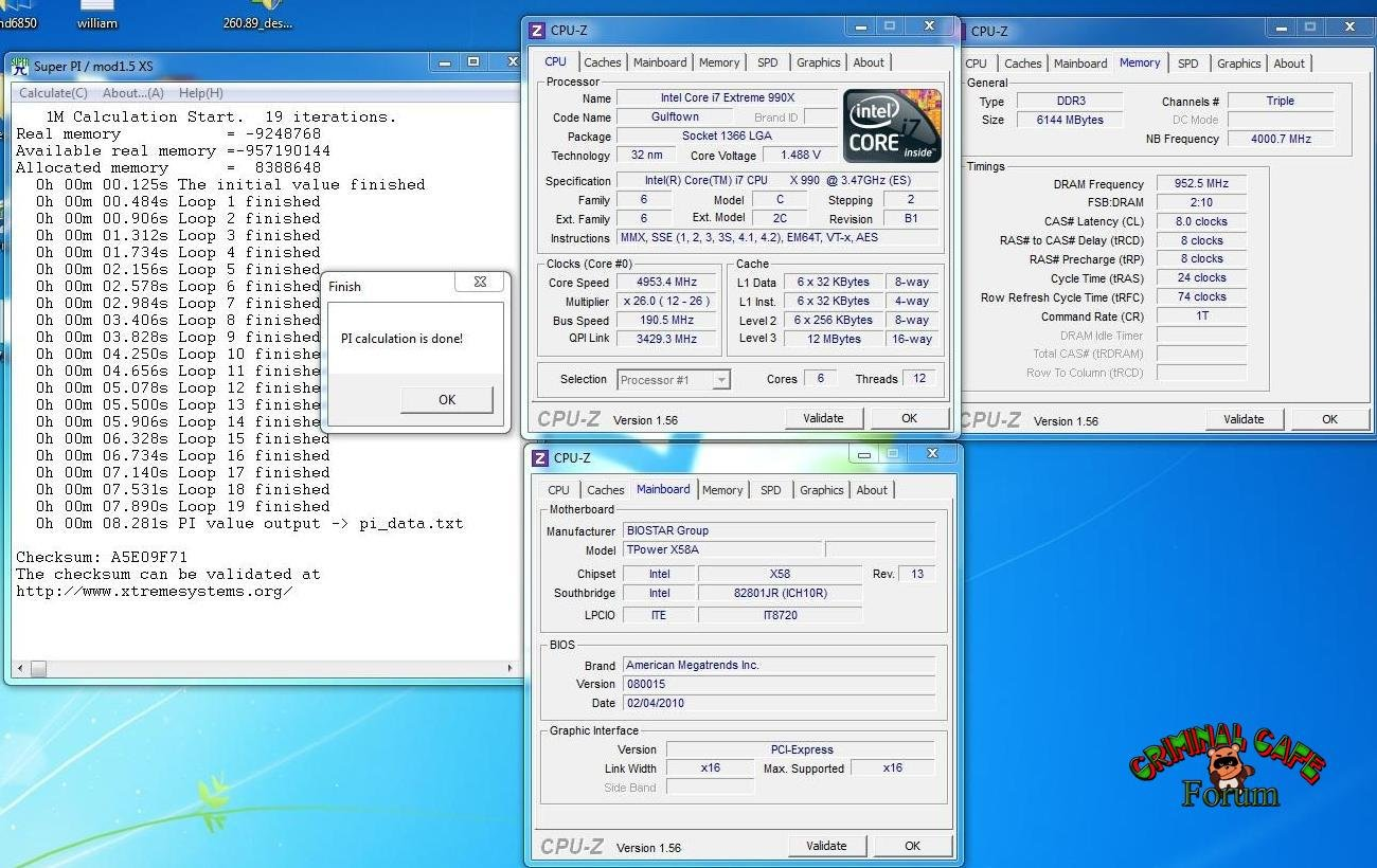 Intel Core i7-990X übertaktet