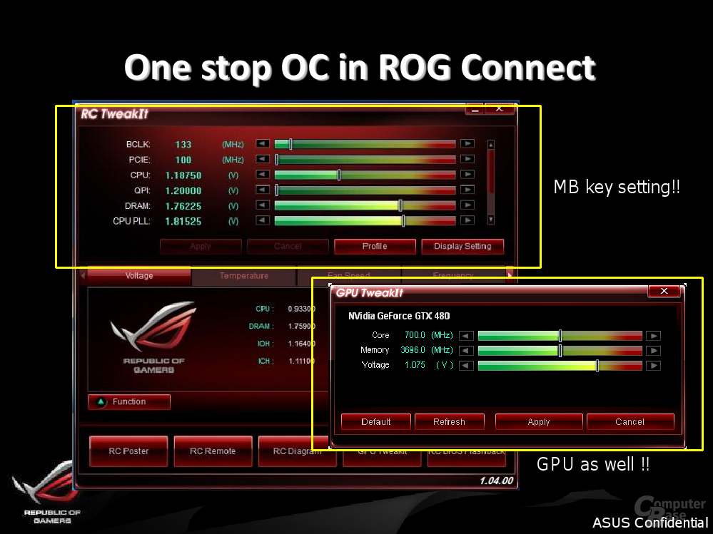Features des Asus ROG Maximus IV Extreme