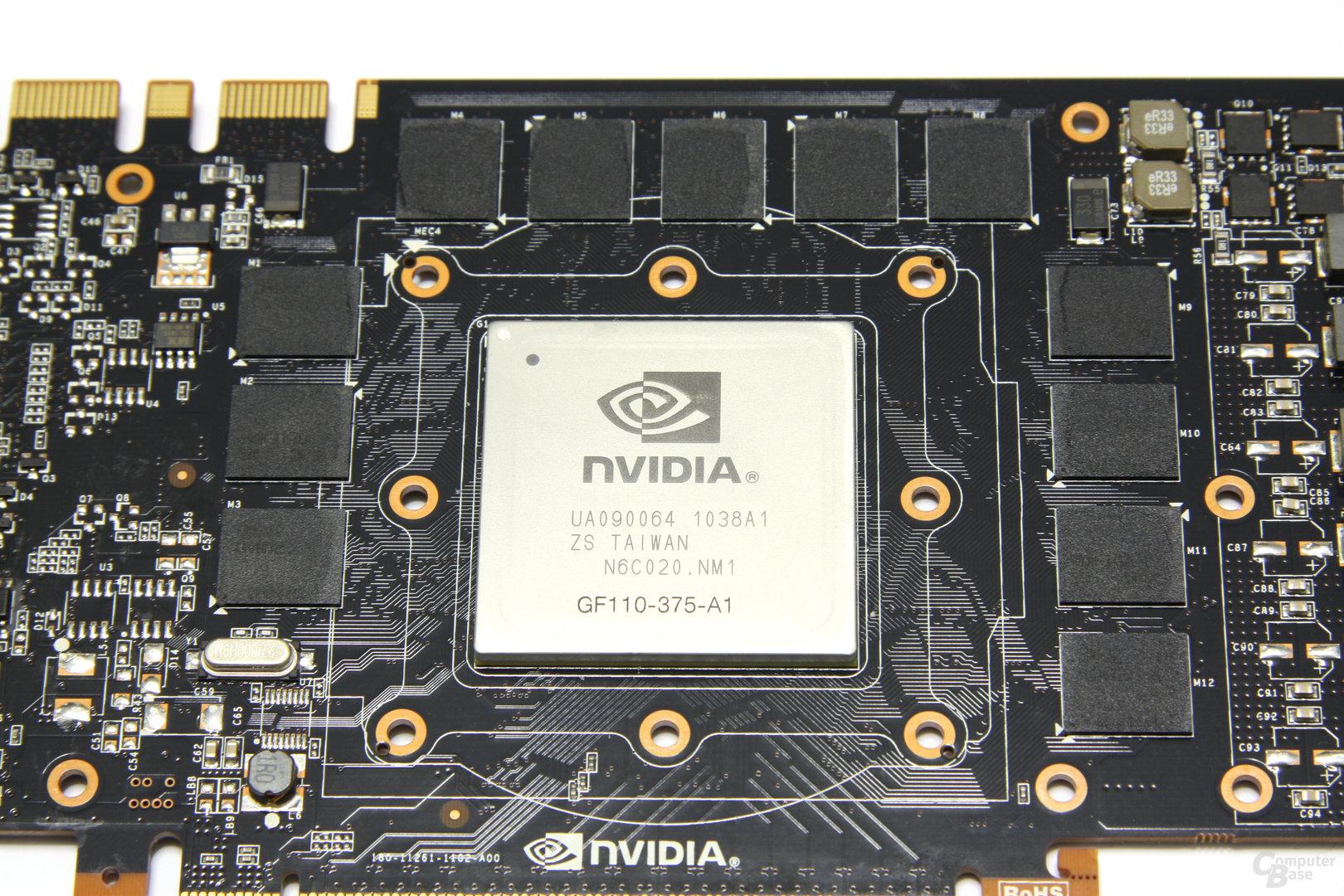 GeForce GTX 580 GPU und Speicher