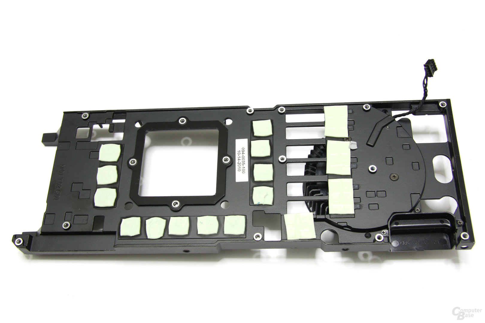 GeForce GTX 580 Kühlerrückseite