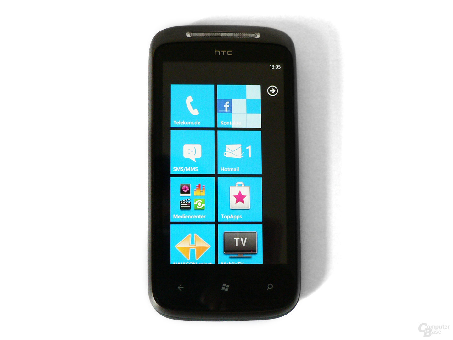 Windows Phone 7 Homescreen auf dem HTC Mozart