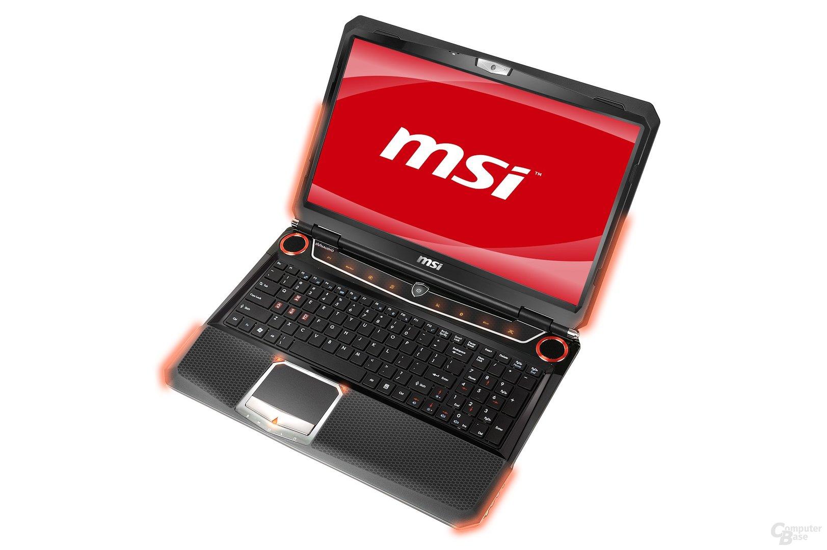 MSI GT663: Vorderseite