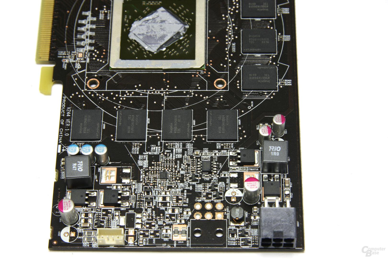 Radeon HD 6850 Bauteile