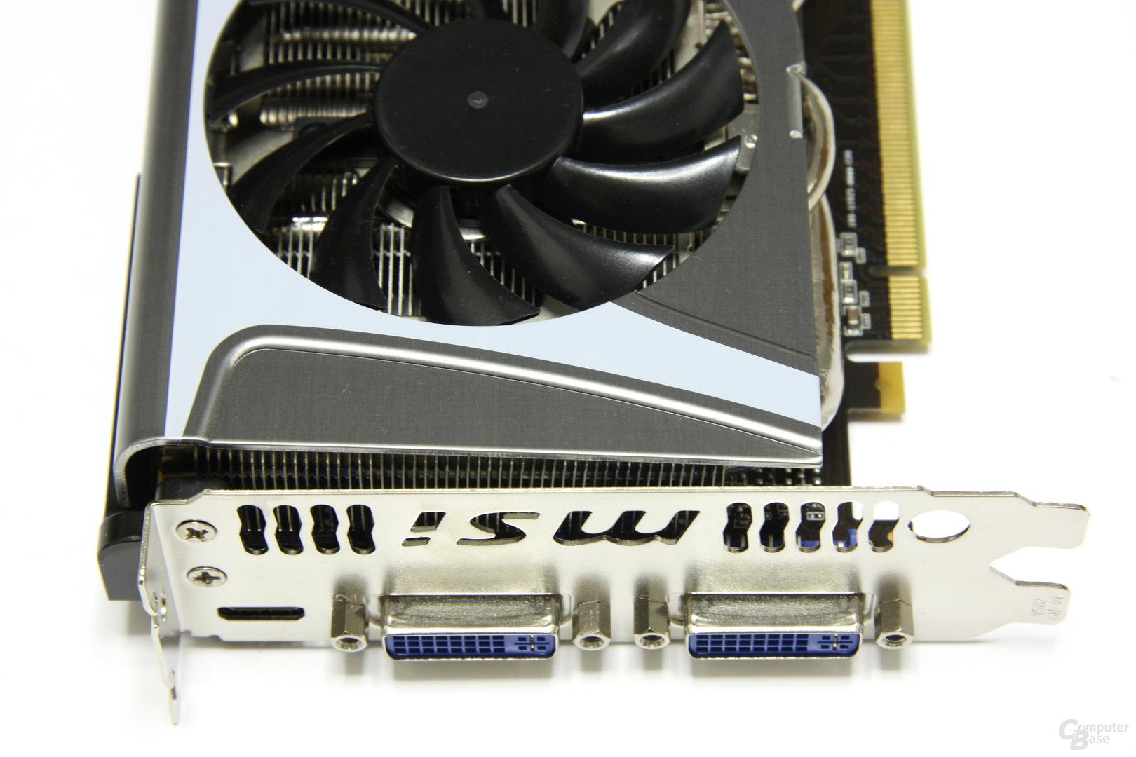 GeForce GTX 470 Twin Frozr II Anschlüsse