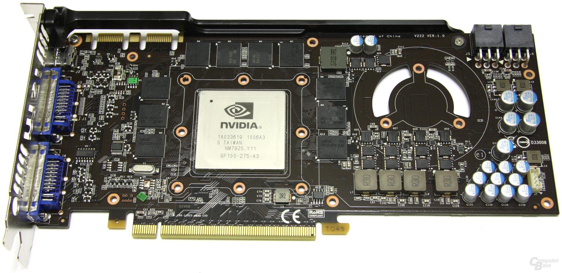 GeForce GTX 470 Twin Frozr II ohne Kühler