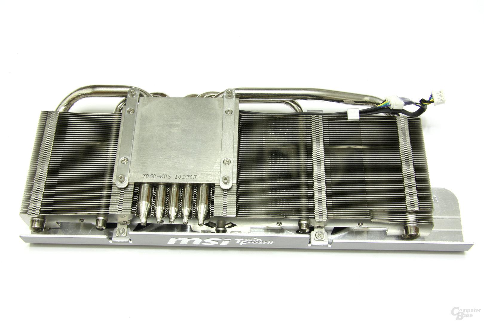 GeForce GTX 470 Twin Frozr II Kühlerrückseite