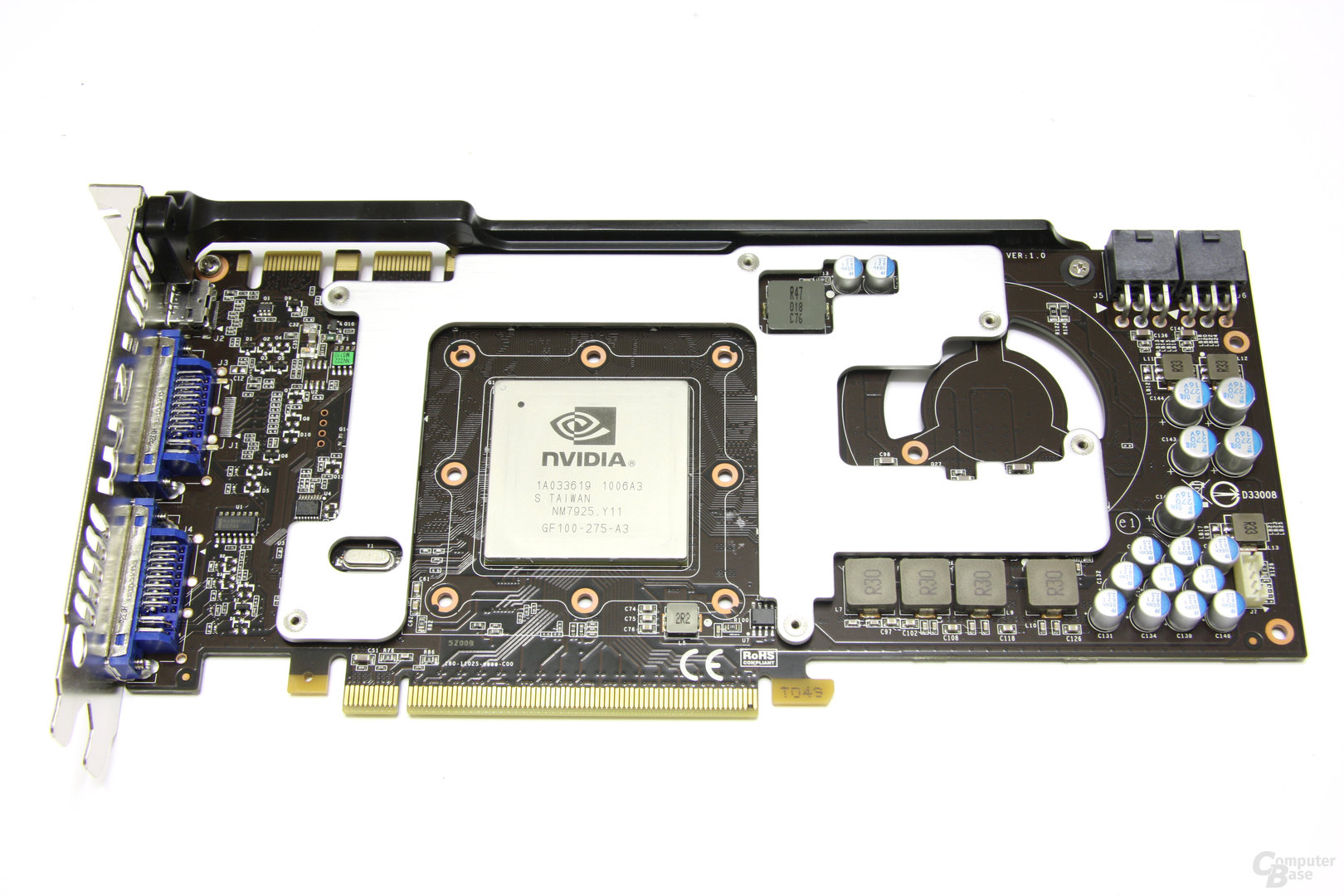 GeForce GTX 470 Twin Frozr II Kühlplatte