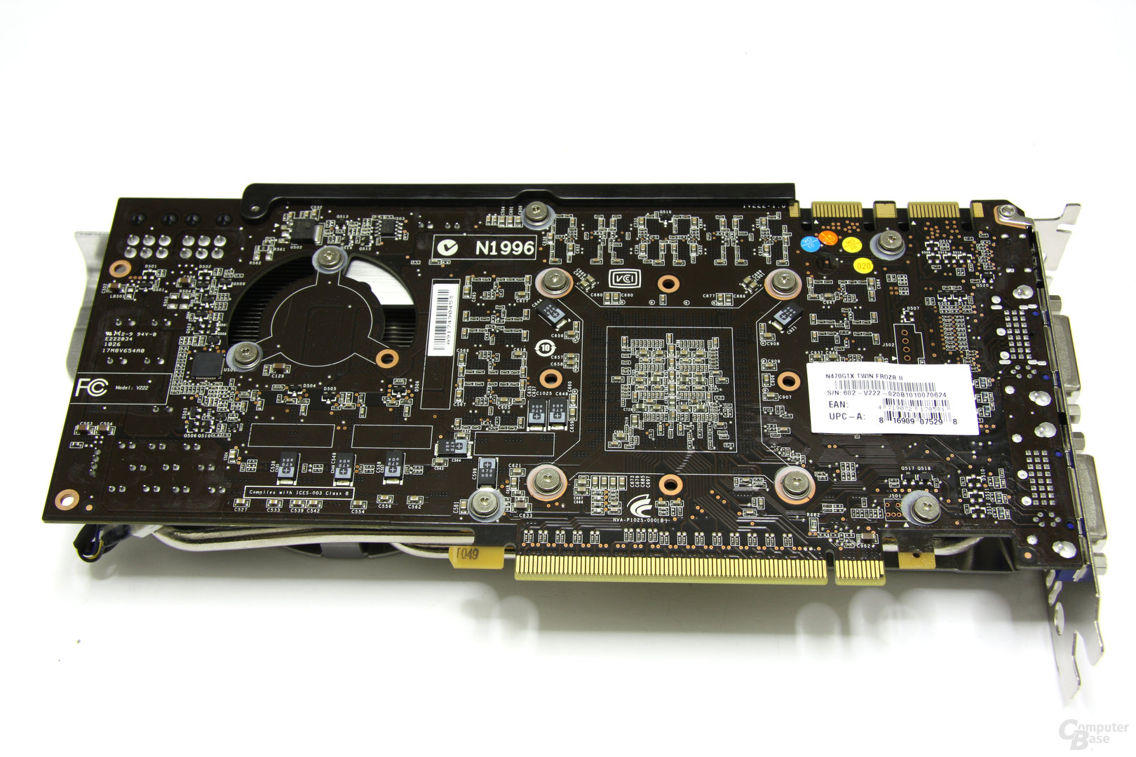 GeForce GTX 470 Twin Frozr II Rückseite