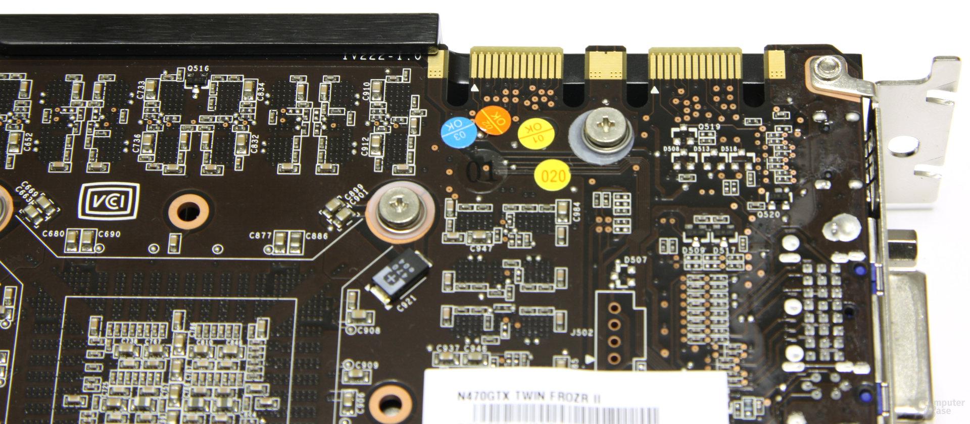 GeForce GTX 470 Twin Frozr II SLI-Anschlüsse