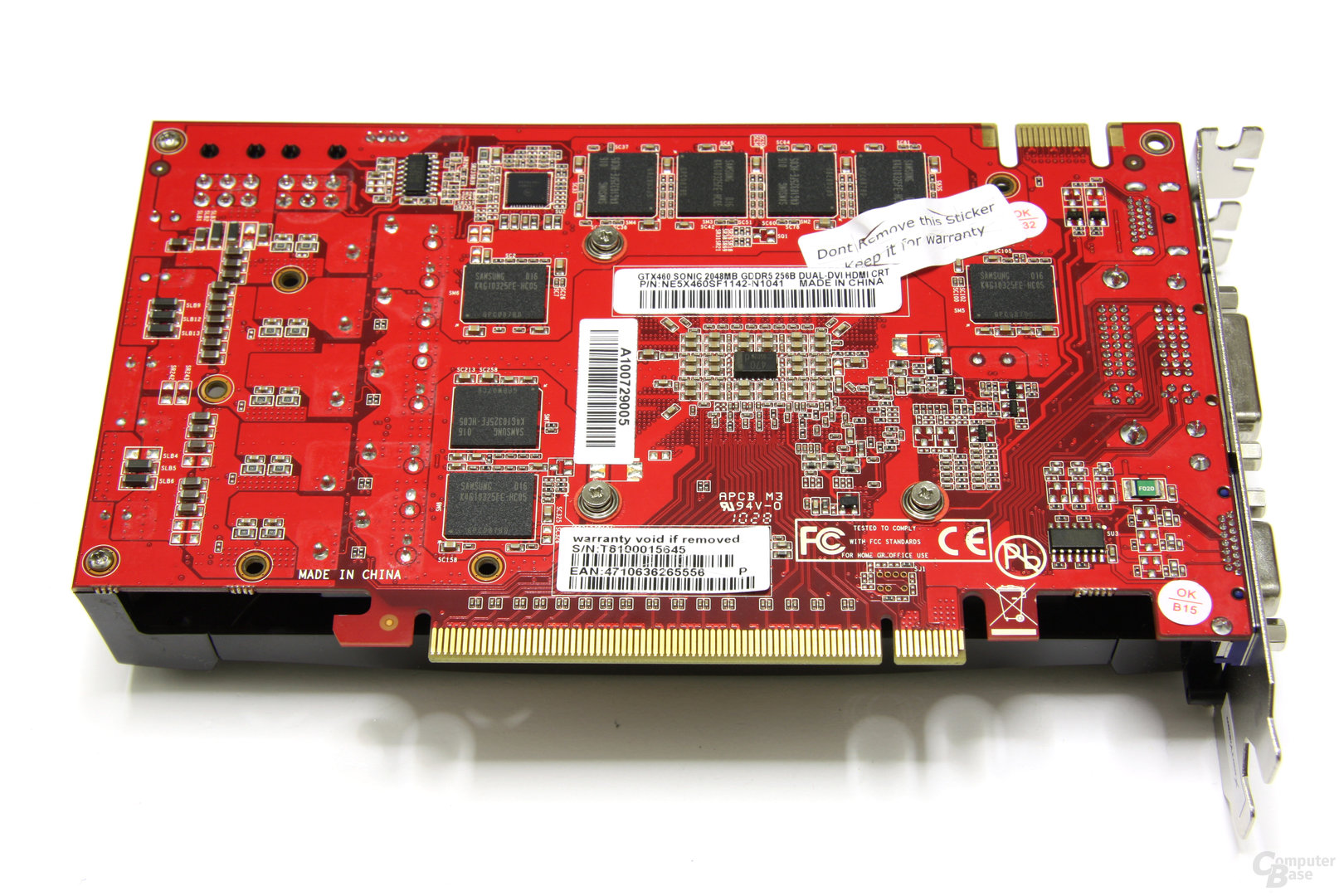 GeForce GTX 460 Sonic 2GB Rückseite