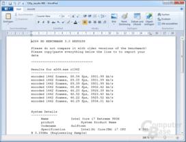 x264 HD Benchmark 3.19