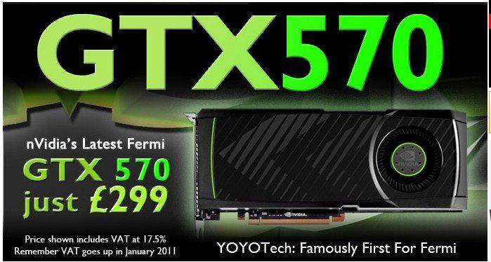 Nvidia GeForce GTX 570 für 350 Euro?