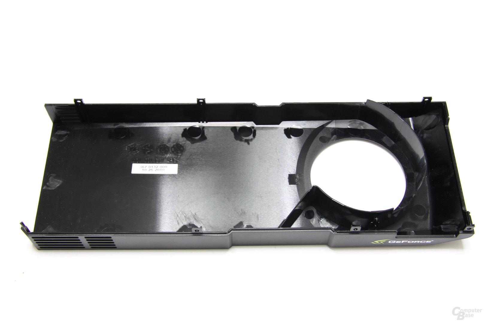 GeForce GTX 570 Kühlplatte Rückseite