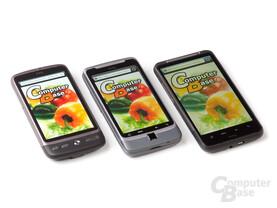 HTC Desire HD – Display-Vergleich