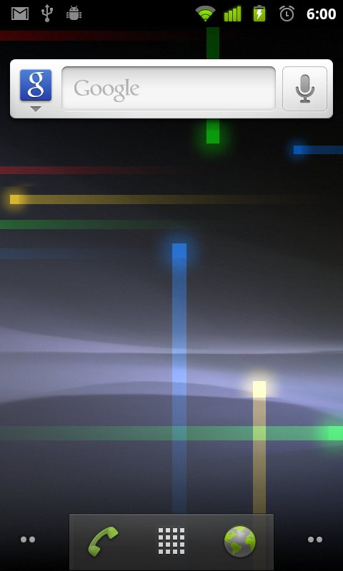 Android 2.3: Homescreen