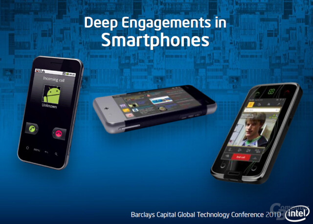 Intels Engagements bei Smartphones