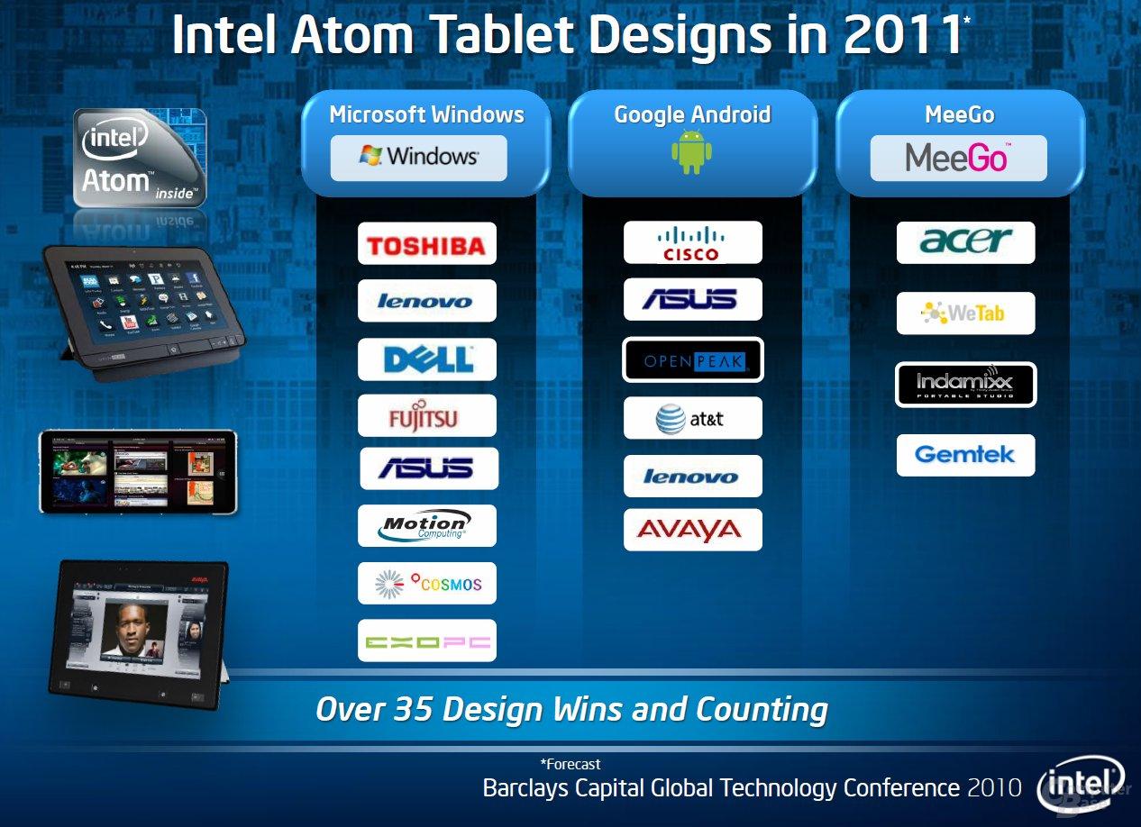 Intel-Tablets mit drei Betriebssystemen