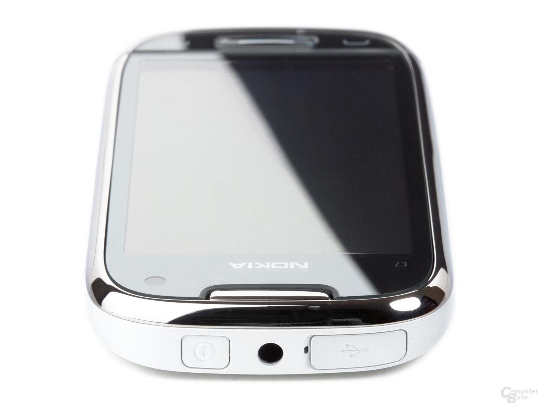Nokia C7-00: Oberseite