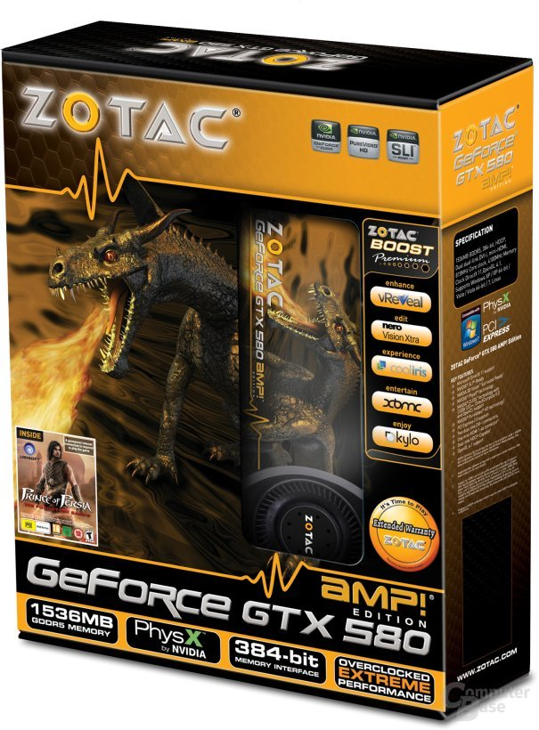 Zotac Geforce GTX 580 AMP! Edition