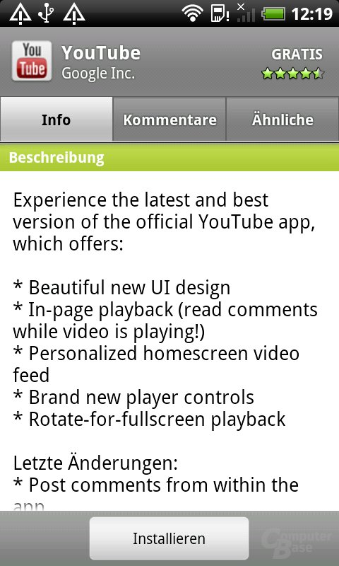 Vorher: App-Ansicht