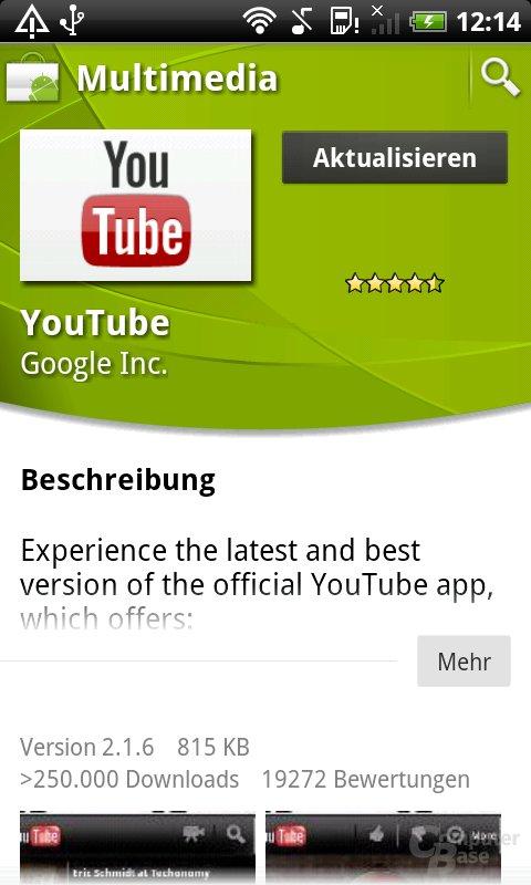 Neu: App-Ansicht