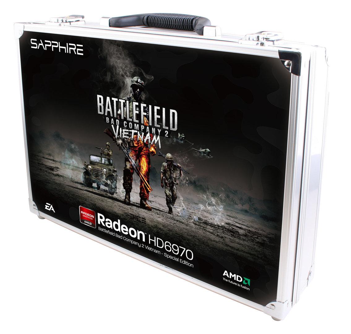 Sapphire Radeon HD 6970 BFBC2 Vietnam Special Edition im Alu-Koffer