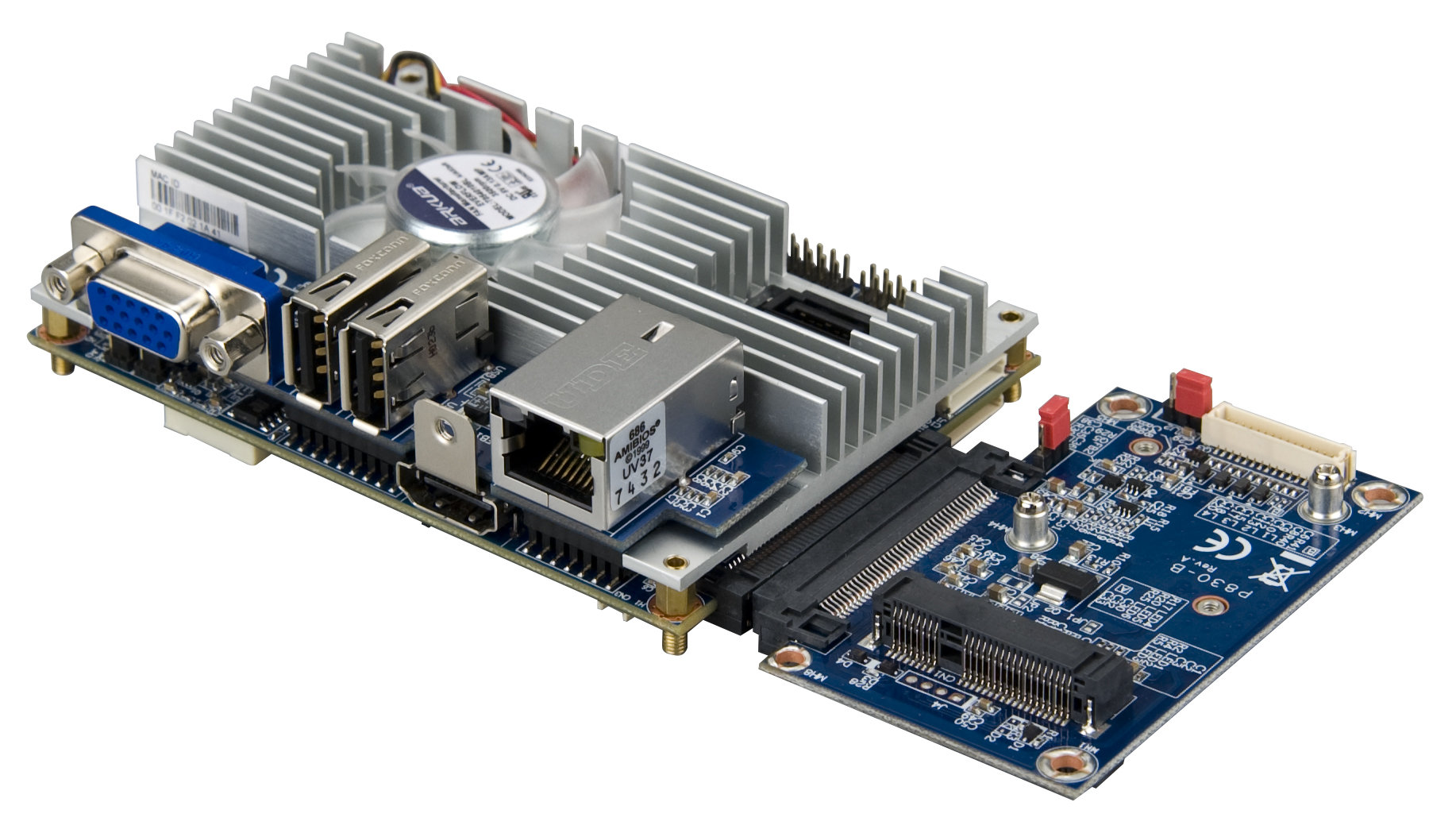 VIA EPIA-P830 mit P830-A und optionalem Expansion Board