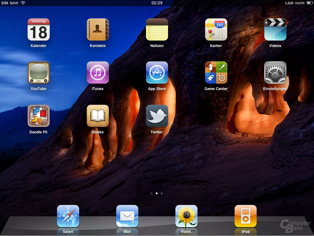 iPad: Home-Screen