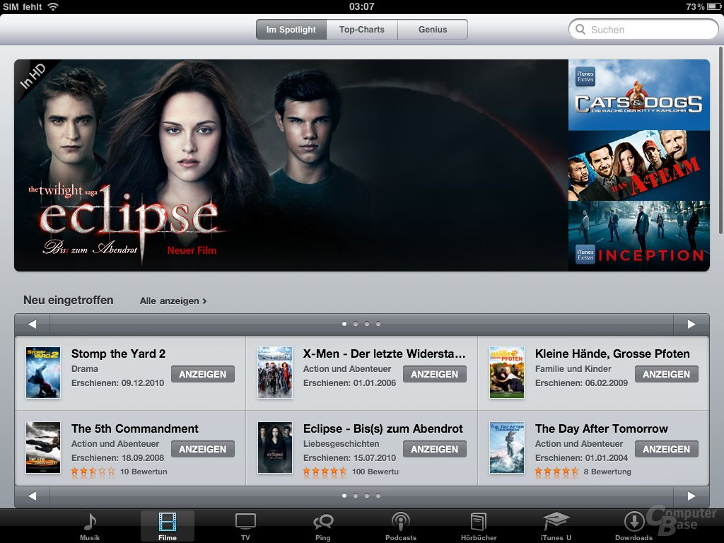iPad: Multimedia (iTunes)