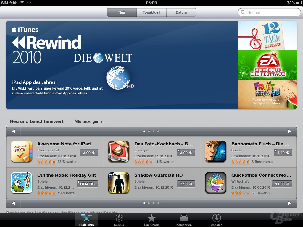 iPad: App Store