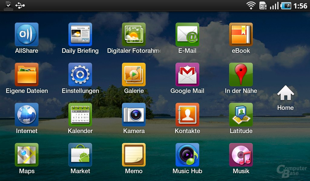 Galaxy Tab: Apps