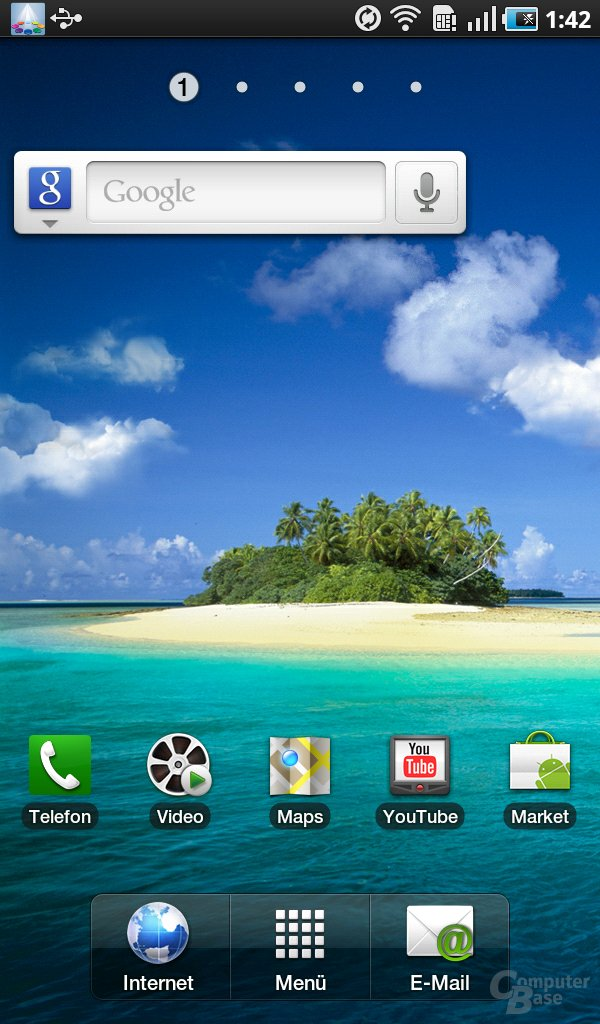 Galaxy Tab: Home-Screen