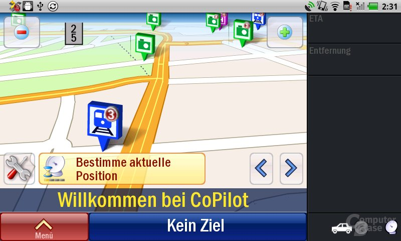 Streak: Navigation mit CoPilot-Testversion