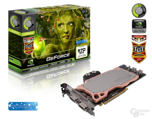 """Wassergekühlte POV/TGT GeForce GTX 570 """"Beast"""""""