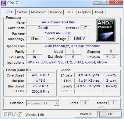 AMD Phenom II X4 840 bei 4 GHz