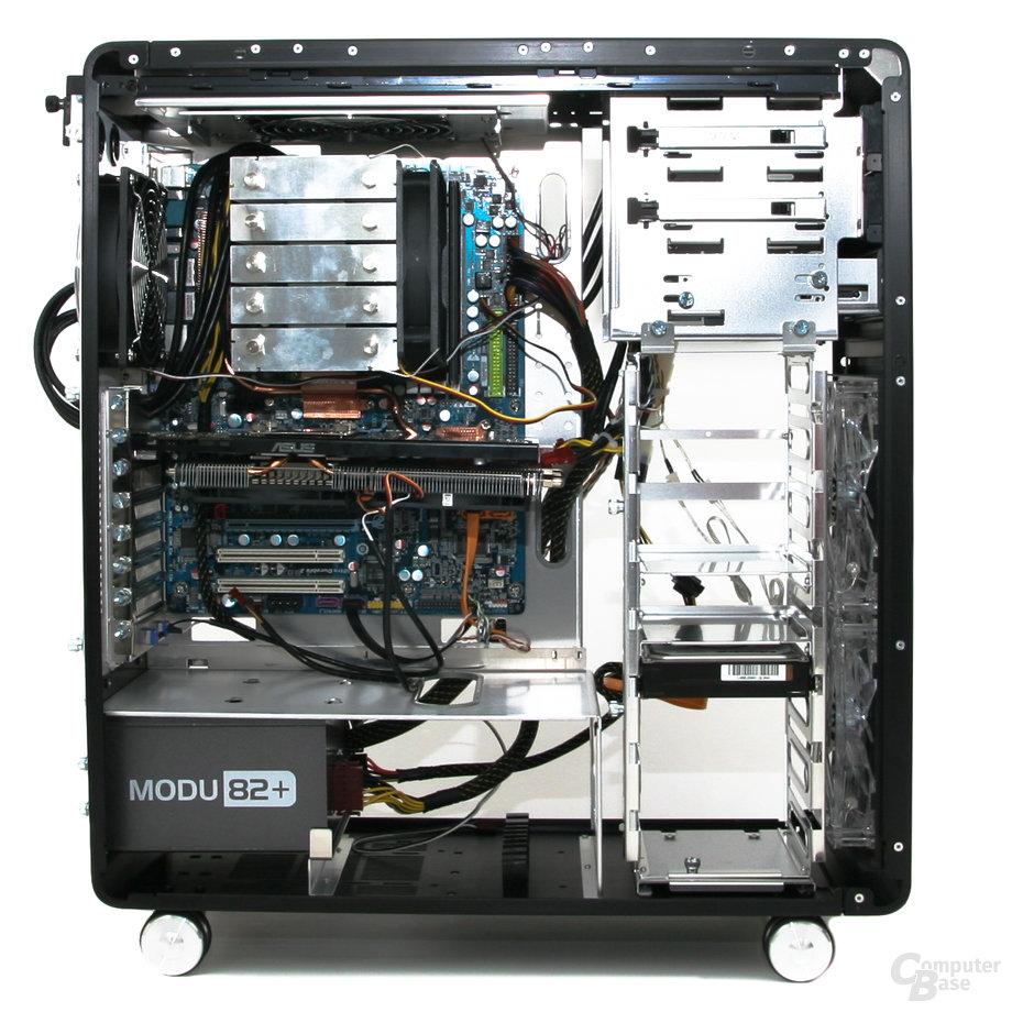 Lian Li PC-V1020B – Innenraum mit Hardware