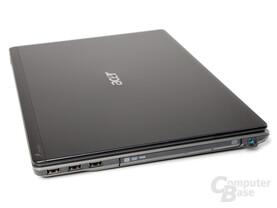 Acer Aspire Timeline X 5820TG: DVD-Laufwerk und Anschlüsse