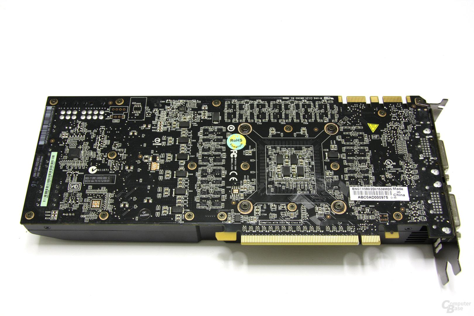 GeForce GTX 580 Rückseite