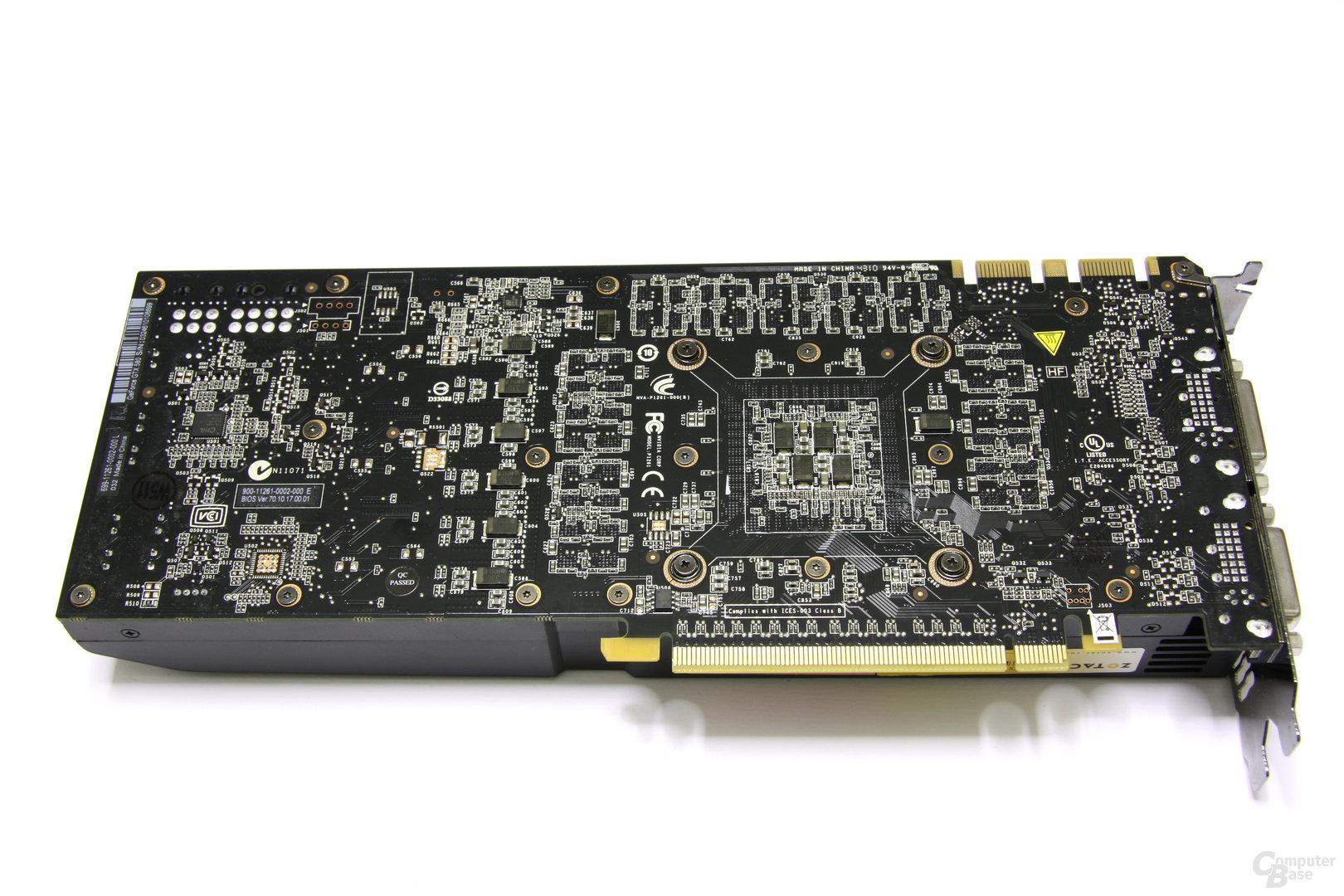 GeForce GTX 580 AMP! Rückseite