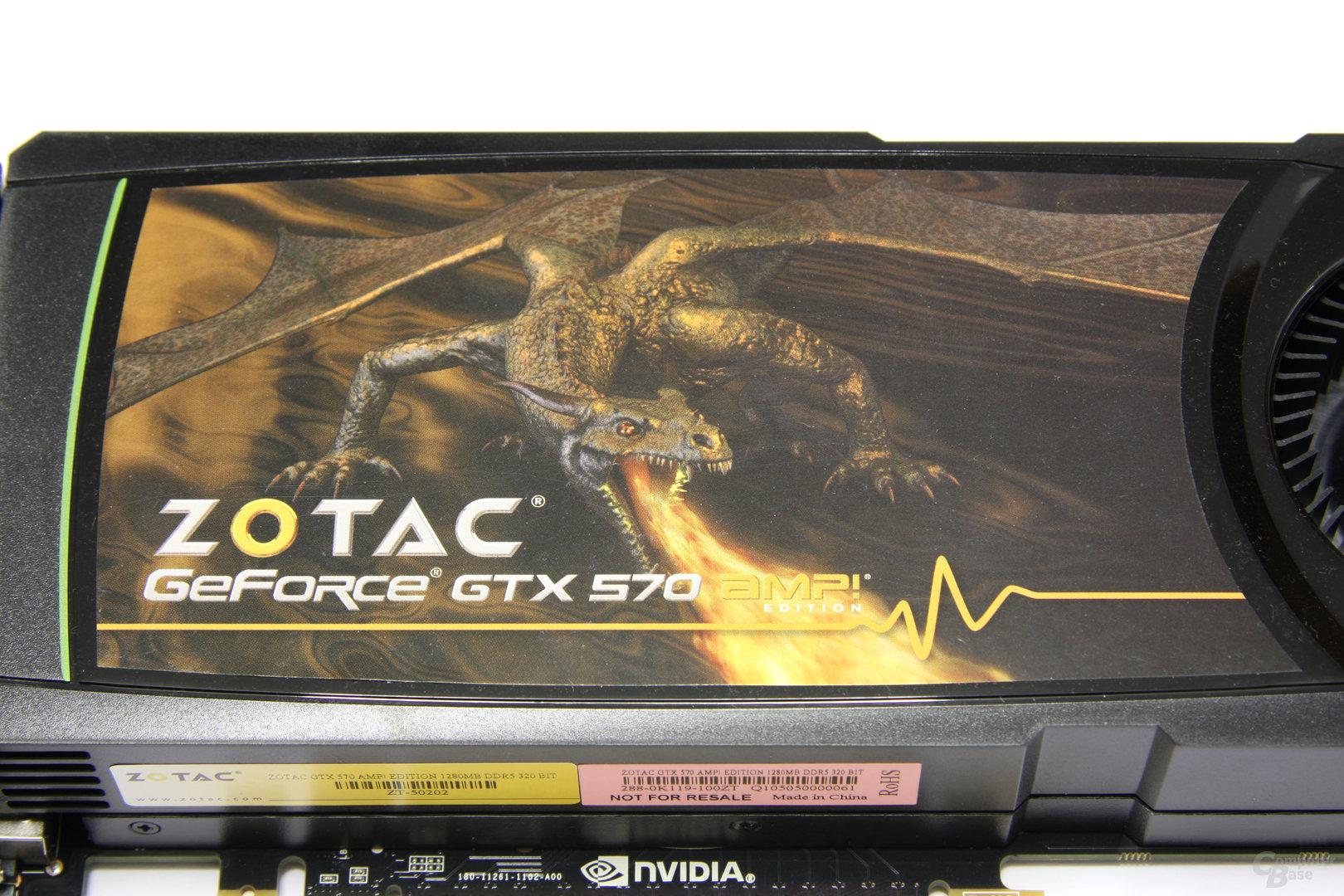 GeForce GTX 570 AMP! Logo