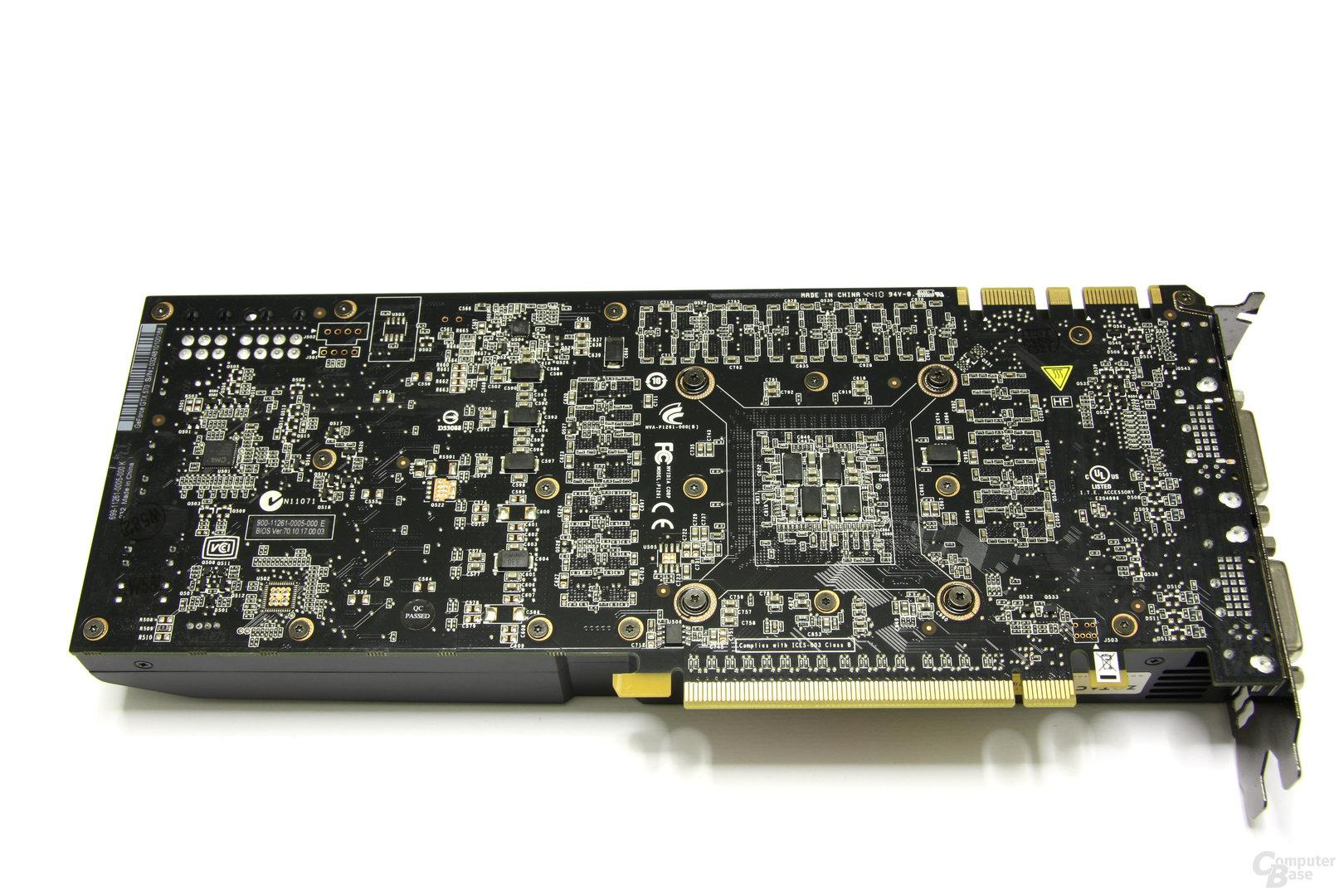 GeForce GTX 570 AMP! Rückseite