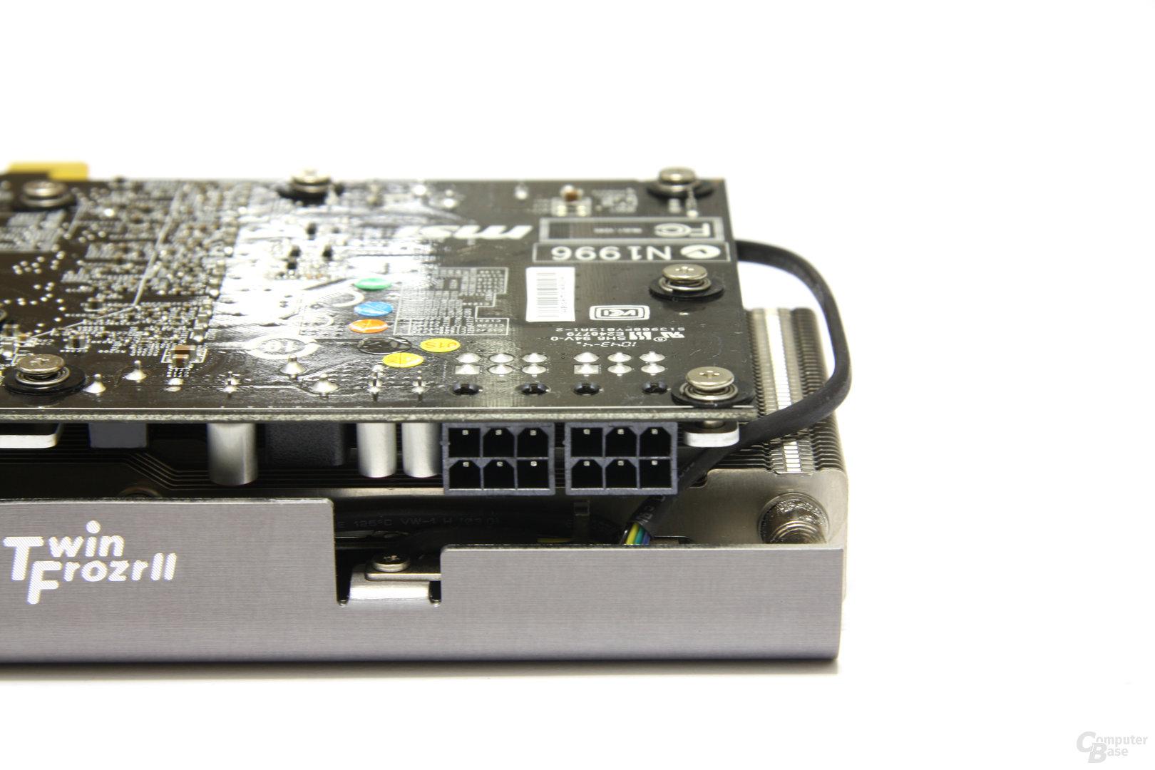 Radeon HD 6870 Twin Frozr II Stromanschlüsse