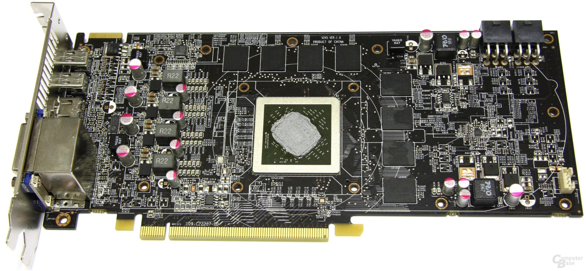 Radeon HD 6870 Twin Frozr II ohne Kühler