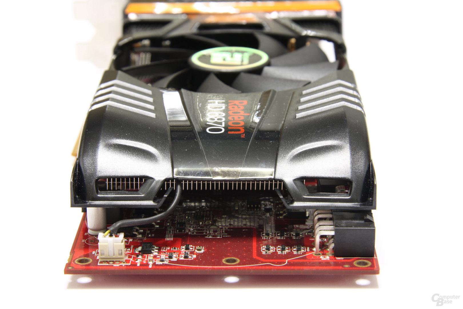 Radeon HD 6870 PCS+ von hinten