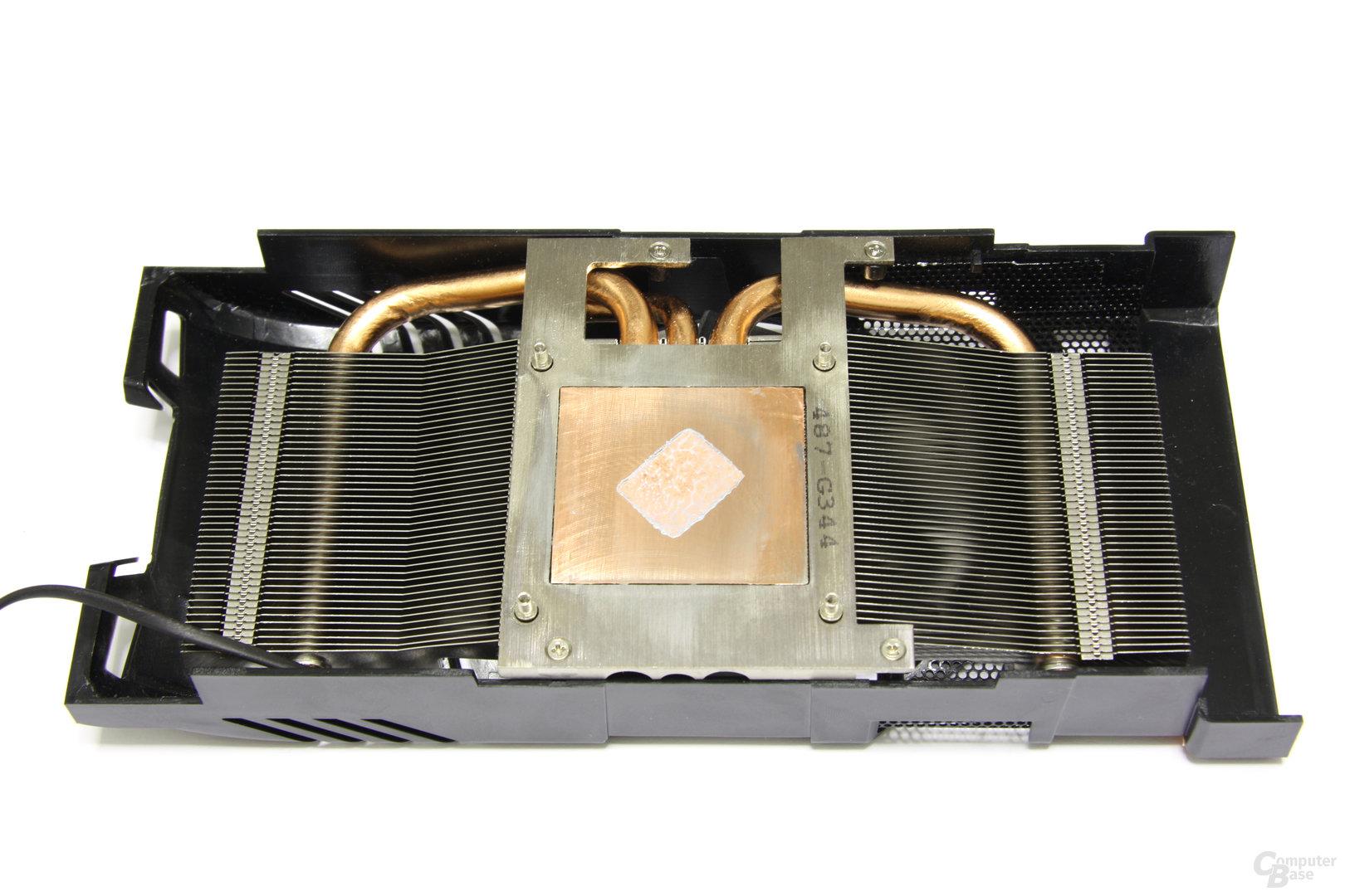 Radeon HD 6870 PCS+ Kühlerrückseite