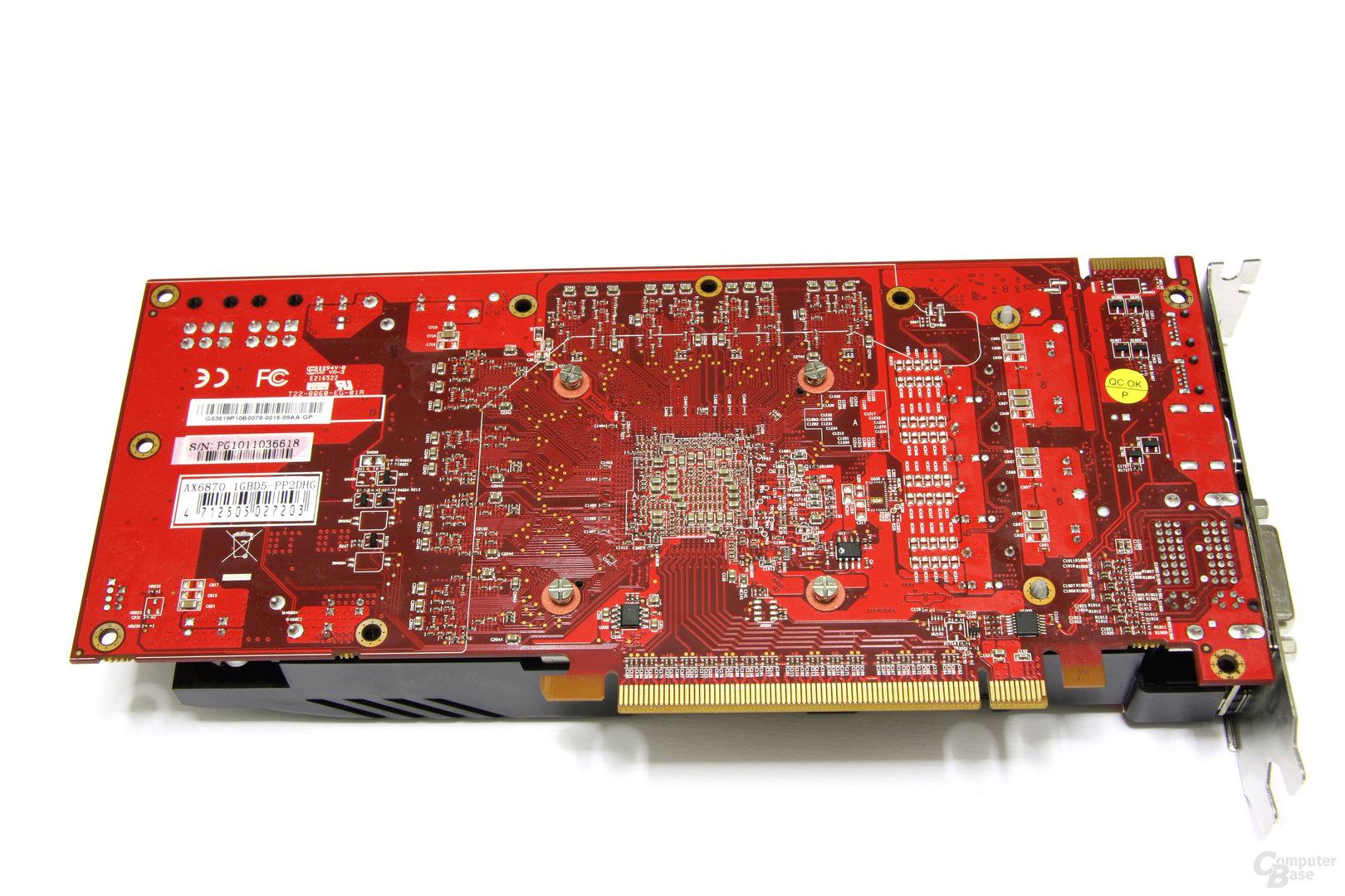 Radeon HD 6870 PCS+ Rückseite